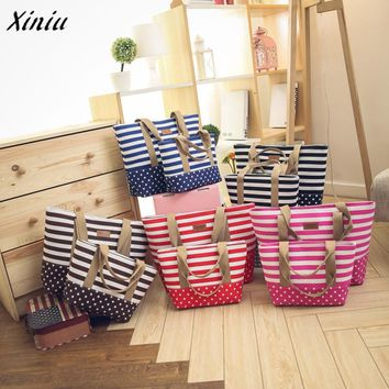Womens Striped Shoulder Bags Capacity Women Canvas Bags Size Small designer handbags high quality tote bags for women