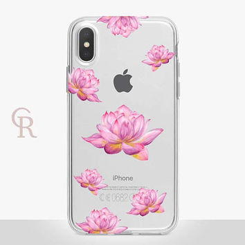 Lotus Clear Phone Case For iPhone 8 iPhone 8 Plus iPhone X Phone 7 Plus iPhone 6 iPhone 6S  iPhone SE Samsung S8 iPhone 5 Floral Buddha
