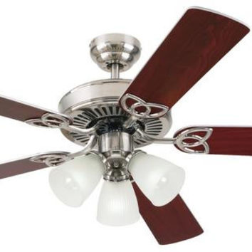 Vintage 52-Inch Reversible Five-Blade Indoor Ceiling Fan