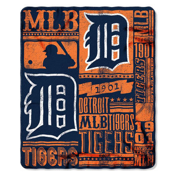 Detroit Tigers MLB Light Weight Fleece Blanket (Strength Series) (50inx60in)