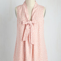 Miami Moments Top in Blush Dots | Mod Retro Vintage Short Sleeve Shirts | ModCloth.com
