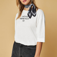 TWIIN Anti Embroidered Upsized T-Shirt at PacSun.com