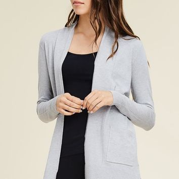 Grey Basic Cardigan