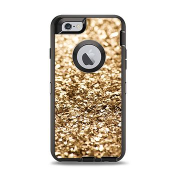 The Gold Glimmer V2 Apple iPhone 6 Otterbox Defender Case Skin Set