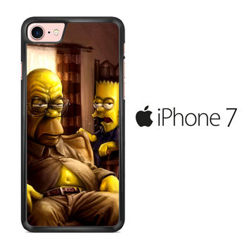 The Simpsons Homer Marge Bart Breaking Bad iPhone 7 Case