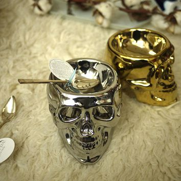 Light The Skull Candle Holder