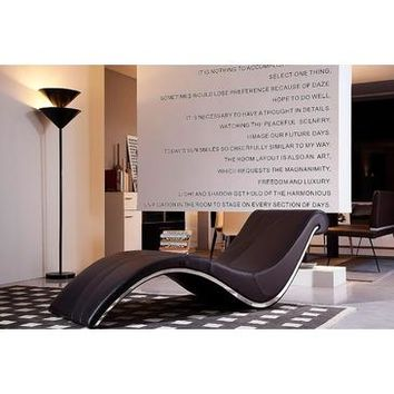 VIG Divani Casa Essen Modern Brown Leather Lounge Chaise