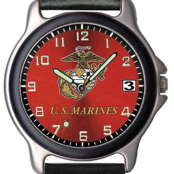 Aqua Force Marine Corps Insignia Sports Watch w/ Red Face (30M water resistant)