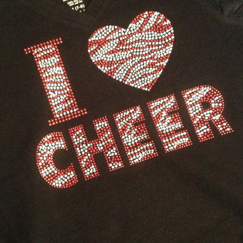 I Love Cheer Jacket/Sweatshirt with hood