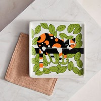Fishs Eddy Charley Harper Canape Plate - Limp On A Limb