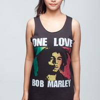Bob Marley Shirt One Love Ska Reggae Shirts Women Tank Top Black Shirt Tunic Top Vest Sleeveless Women T-Shirt Size L
