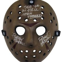 DCCKJNG Robert Englund Signed Autographed 'Friday the 13th' Jason Voorhees Mask (ASI COA)