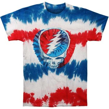 Grateful Dead Men's  American SYF Tie Dye T-shirt Multi