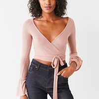 Out From Under Shea Wrap-Around Long Sleeve Top | Urban Outfitters