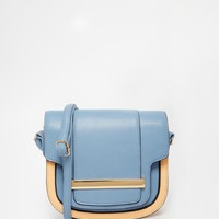 ASOS Saddle Bag In Colour Block at asos.com