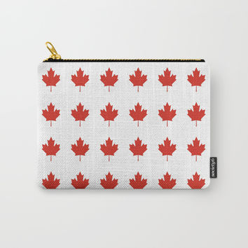 flag of canada,america,canadian,ottawa,toronto,Maple Leaf,l'Unifolié,montreal,erable,snow Carry-All Pouch by oldking