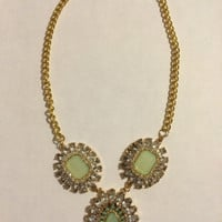 Light Mint Green Statement Necklace