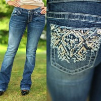 Tribal Sensation Bootcut Jeans by Miss Me