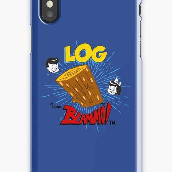 'Log : Inspired by Ren And Stimpy' iPhone Case/Skin by WonkyRobot