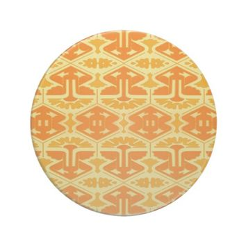 Art Deco Flair - Yellow and Orange Sandstone Coaster