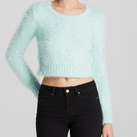 Glamorous Sweater - Bloomingdale's Exclusive Fuzzy Crop