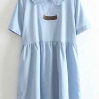 Kawaii Japanese Style Short Sleeve Lapel Casual Dress