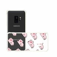 Cute Pig Pattern Transparent Silicon Plastic Phone Case for Samsung Galaxy S8 Plus Samsung Galaxy Covers Emerishop (Samsung S8 Plus)