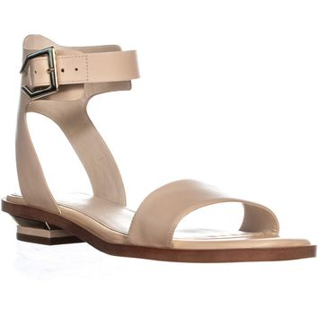 Cole Haan Avani Ankle Buckle Sandals, Nude Leather, 10 US