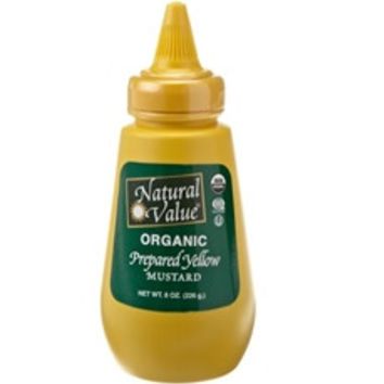 Natural Value Yellow Mustard Organic Squeeze  -12x8Oz-