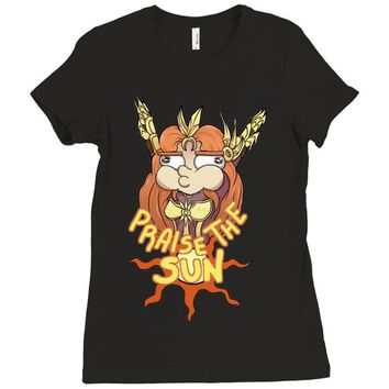 praise the sun (2) Ladies Fitted T-Shirt
