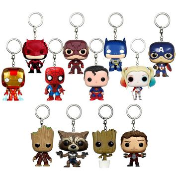 Marvel Harley Action Figure Anime Game Keychain