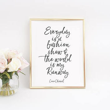 FASHION ART,Coco Chanel Print,Chanel Quote,Teen Room,Teens Gift,Fashion Show,Fashion Decor,Coco Chanel Print,Fashion Wall Art,Girls Poster