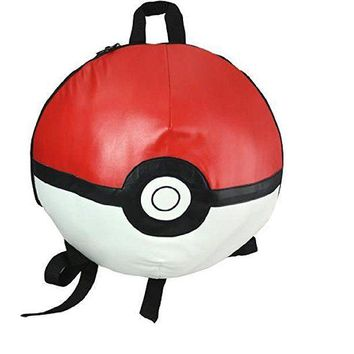 "Licensed Pokemon Go 16"" ""Pokeball"" 3d Round Backpack"