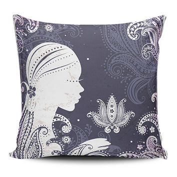 Paisley Lotus Gypsy Spiritual Pillow Covers