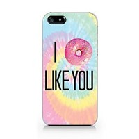 Tie Dye I Donut Like You iphone 5 Case, iphone 5S Case Plastic Hard Case Unique Design-Quindyshop (NAM44)