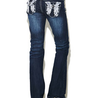 Lace Wing Boot Cut Jean | Wet Seal