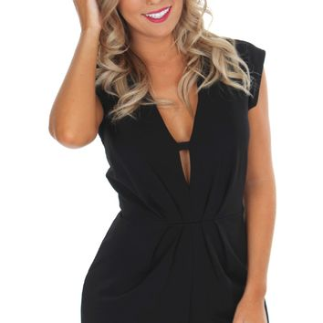 Structured Cutout Romper