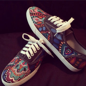 Lilly Pulitzer Inspired Crown Jewels Hand Painted Shoes