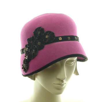Felt Cloche Hat for Women 1920s Fashion Hat by TheMillineryShop