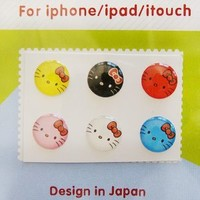 "Amazon.com: ""Home"" Button Sticker for iphone/ipad/itouch, Happy Kitty, 6 Stickers: Toys & Games"