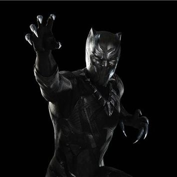 Custom Canvas Art Black Panther Poster Marvel Comics Wallpaper Super Hero Mask Wall Stickers Avengers Sticker Mural Decal #2892#