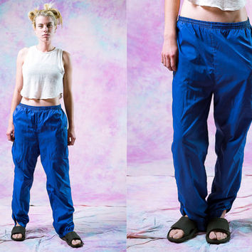 vtg 90's adidas purple blue sports pants, 1980s neon womens active wear, 1990s vintage american apparel tumblr fashion vaporwave aesthetic