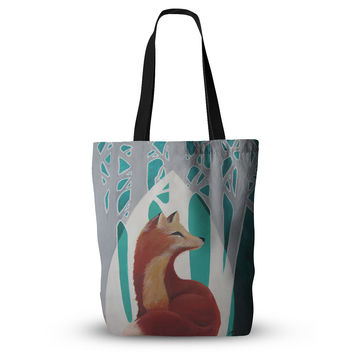 "Lydia Martin ""Fox Forest"" Tote Bag, 13"" x 13"" - Outlet Item"