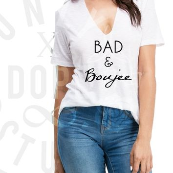 Bad and Boujee Choker Tee