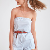 Kimchi Blue Palm Beach Strapless Romper | Urban Outfitters