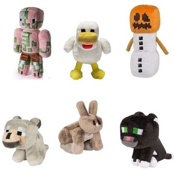 Minecraft Toys 16-26cm my world Zombie doll ghost Wolf enderman Ocelot plush TNT strange sheep Children's gifts