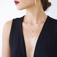 Night Sky Layer Necklace