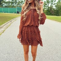 Gobble Til You Wobble Dress: Chocolate/Beige