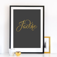 Jadore Poster, French Words, Wall Decor, Minimal Art, French Quote, Inspirational Print, Typographic Poster, French Words.