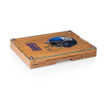 New York Giants - Concerto Glass Top Cheese Board & Tools Set